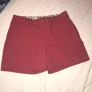 Rust colored Athleta shorts. Size 6